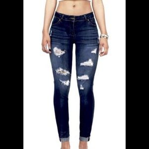 """WAX JEANS 'Butt I love you"""" ripped jeans"""